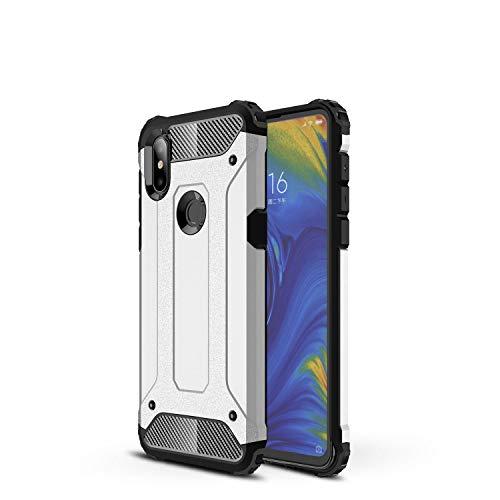 Botongda Cover Xiaomi Mi Mix 3 5G,Custodia Resistente agli Urti e AntiGraffio con Cover Posteriore con Una Combinazione di PC Robusto e TPU Morbido per Xiaomi Mi Mix 3 5G(Argento)