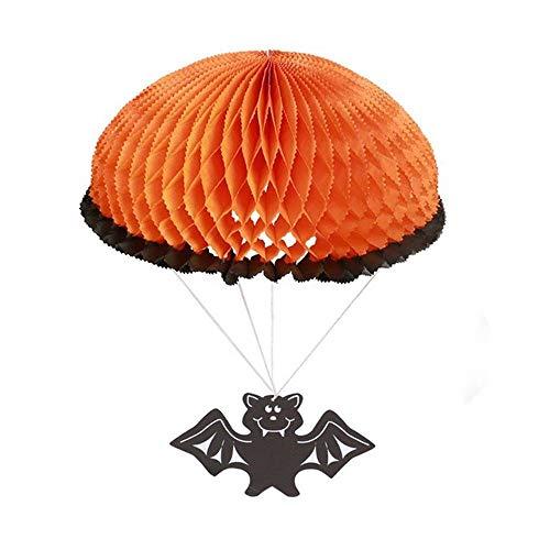 (Quaan Decke Papier- Fallschirm Halloween hängend Dekor Draußen Bar Parteien Lieferungen Geist Festival KTV Fenster Kinder Party Requisiten Spielzeug Grusel Dekorationen)