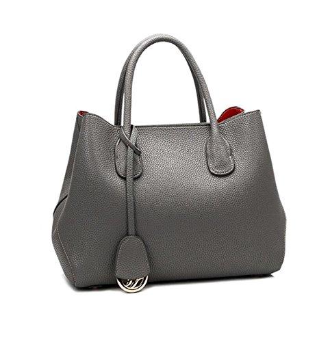 LF&F Luxus Leder Mode Platin-Tasche Handtasche Handtasche Schulter Diagonal-Paket formale Freizeitaktivitäten Party Hochzeit Outdoor Büro Beruf besondere Anlässe gray