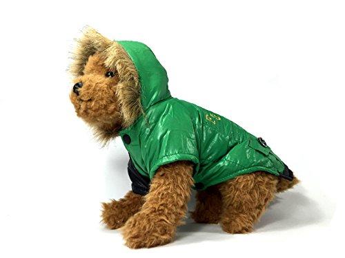 TheDogWear.com Grün Wasserabweisende Hund Jacke, S, grün - Resistent S/s Shirt