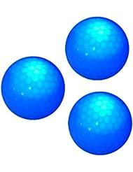Sharplace 3 Piezas Pelota De Golf de Torneo con LED Azul Oscuro Juegos Deportes