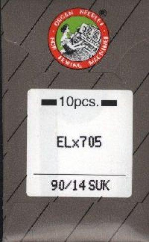 ORGAN 10 Nadeln ELx705 Stärke 90 SUK für Babylock Overlocker und Cover -