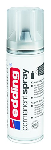 Edding 5200-998 - Spray de 200 ml de pintura acrílica de máxima opacidad, secado rápido sin burbujas, imprimación plástica incolora
