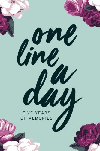 one-line-a-day-journal-five-years-of-memories-6x9-diary-dated-and-lined-book-floral