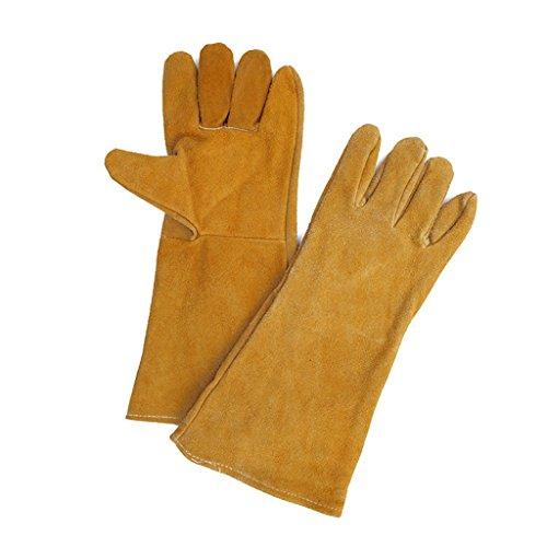 CN Dicke Schutzhandschuhe Schweißer Sterne Handschuhe Super-Verschleißfestigkeit Schweißen Mechanische Handschuhe Schweißhandschuhe (Xl-antistatik-handschuhe)
