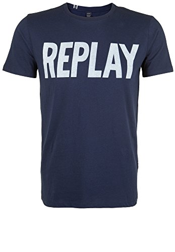 Replay Herren T-Shirt M3261 .000.2660 Ink Blue