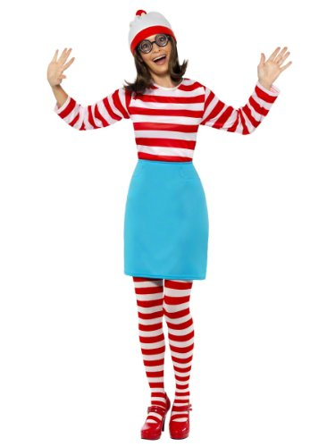 Smiffys - Damen Kostüm Where's Wally Wanda - M
