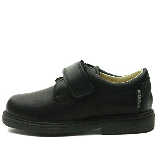 MATHEW Step2wo School Shoe Velcro Strap for Boys >      > Schulschuh Klettband für Jungen Black (Schwarz)