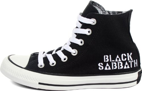 Converse Chuck Taylor Ct Salut Black Sabbath Black Canvas Salut Top Sneakers CT HI BLACK