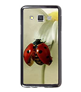 Printvisa Ultra Red Beatle 2D Hard Polycarbonate Designer Back Case Cover for Samsung Galaxy A7
