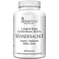 Preisvergleich für BIOMENTA MÄNNERSACHE II | mit L-ARGININ BASE + CITRULLIN MALAT + BCAA + ZINK | 150 Arginin-Citrullin-Kapseln