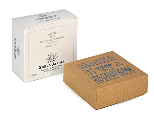 Saponificio Varesino Stella Alpina Deluxe Hart Rasierseife 150g Puck - Harte Rasierseife