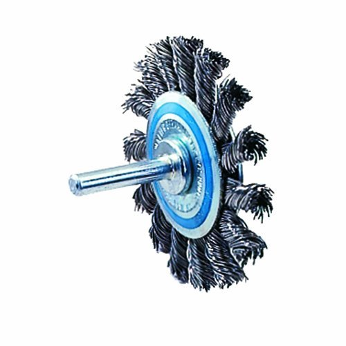 Walter 13C130 Knot Twisted Mounted Wire Brush, Carbon Steel, 2-3/4 Diameter, 0.020 Wire Diameter, 20000 Maximum RPM by Walter Surface Technologies - Twisted Knot Brush