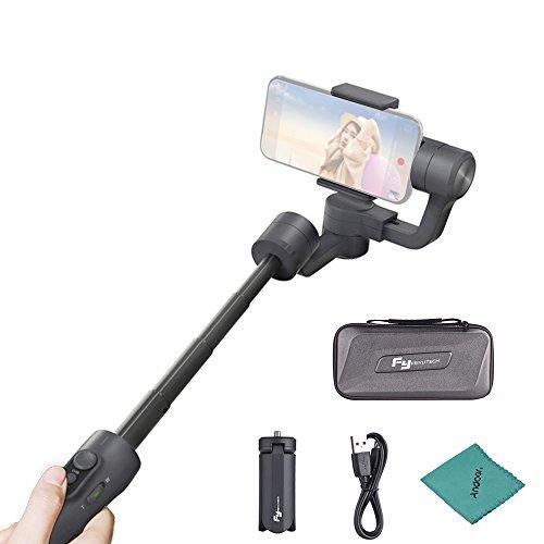 FeiyuTech Vimble 2 3 Achsen Stabilisator Handheld Gimbal & Pole Wasserdicht Teleskopverlängerung Video Stabilizer Unterstützung Gesicht & Objekt Tracking für 57-84mm Breite Smartphones Video Gesicht