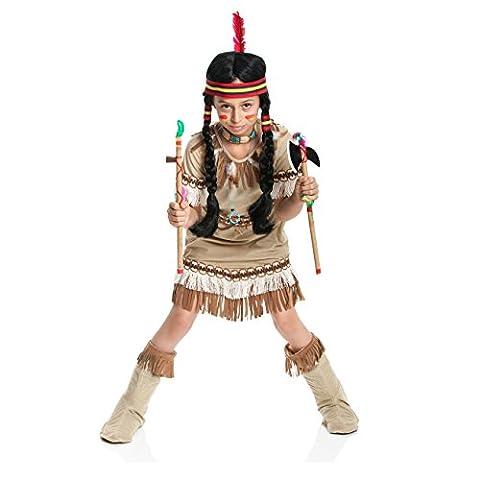 Kostümplanet® Indianerin-Kostüm Kinder Indianer-Kostüm Mädchen Größe 116