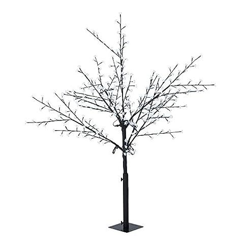 Blumfeldt Hanami CW 180 Weihnachtsdekoration Lichterbaum (Kirschblüten-Design, 336 LEDs kaltweiß, biegsame Äste, 10 m Zuleitung)