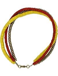 Karatcart Aanvi Multicolor Trendy Wooden Multistrand Anklet For Women