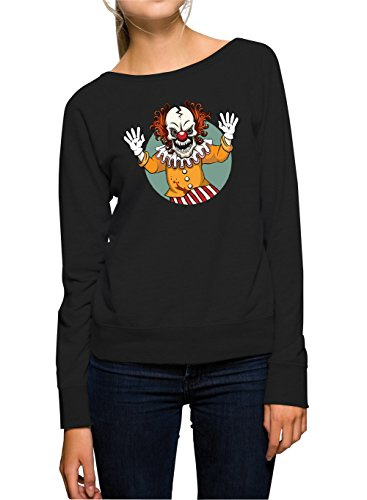 Evil Clown Sweater Girls Black Certified Freak-M