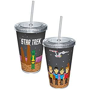 Star Trek Pixelated Trexel Landscape 16 oz Cup with Straw by ICUP