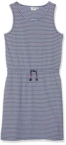 TOM TAILOR Kids Mädchen Dress Patterned Kleid, Mehrfarbig (Y/D Stripe|Multicolored 0001), Herstellergröße: 176 - Kleinkind-linie Kleid Muster