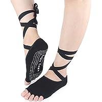 HEALIFTY Frauen Yoga Socken Half Toe Socken Schnürung für mit Grip Non Slip Toeless für Ballett Pilates Barre... preisvergleich bei billige-tabletten.eu
