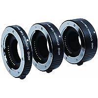 Juego de Tubos de Extensión Macro AF de Movo Photo para Cámaras sin Espejo con Montura X de Fujifilm con tubos de 10mm, 16mm & 21mm