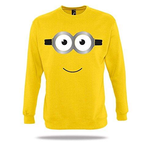 Ich Bin EIN Minion Gelb Pullover Kostüm Karneval Herrentag Minions Movie Homage (Ich Minions, Halloween)