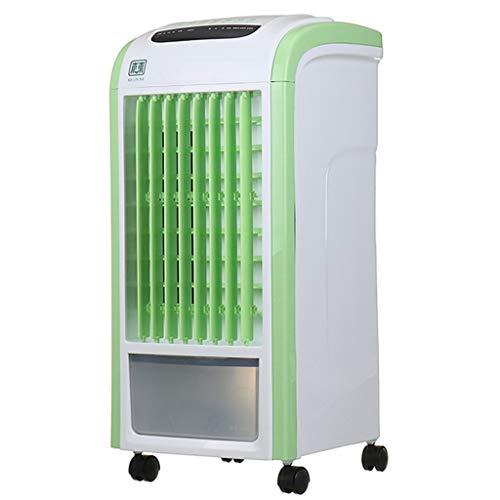 LFLFGXQ Haushaltsluftkühler stummschalten energiesparende tragbare Klimaanlage sowie Wasser Fan Befeuchtung Lüfter Verdunstungsluft,Green,Remote