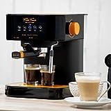 ECO-DE Macchina da caffé Espresso Forte Touch, 20 Bar, Touch control, Struttura in acciaio INOX, Lancia a vapore per Cappuccino, 1.6 litri, Espresso, 1050 Watt compatibile con CIALDE E.S.E