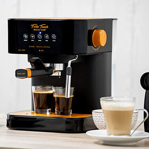 ECODE Cafetera Espresso Forte Touch, 20 Bar, Panel...