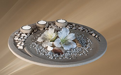 dekoschale-firestone-schale-mit-teelichthaltern-tischdeko-fr-kreative-gestaltung-kein-betonguss-und-