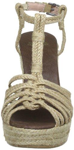 Fred de la Bretoniere 311001, Sandali col tacco donna Beige (Beige (naturale))