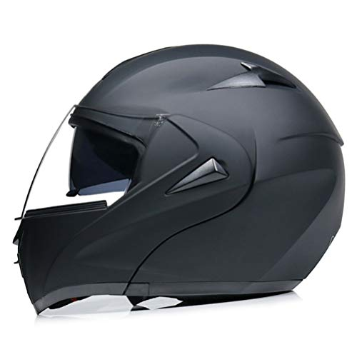 Motesen Casco moto modulare da uomo Casco apribile Casco moto Integrale Doppia lente con visiera parasole interna Caschi moto da corsa DOT
