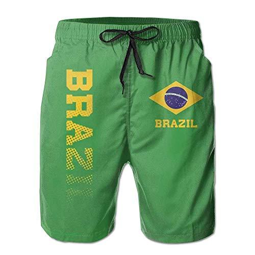 Brasilien 2018 Russland Fußball Cup Herren Badehose Sommer Surf Board Shorts Strand Hose Sportswear (Fussball Brasilien Hose)