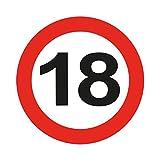 Folat Traffic Schild Geburtstag Party blinkende LED-Badge-18. Geburtstag