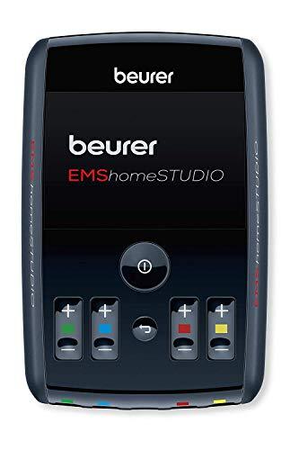 Beurer EMS homeSTUDIO Muskelstimulationsgerät, High End EMS Trainingsgerät für zu Hause mit App und Virtual Coach, inklusive Manschetten und Elektroden