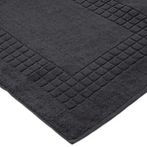 Linens Limited Tapis de bain SUPREME en coton égyptien, 500 g/m², gris anthracite