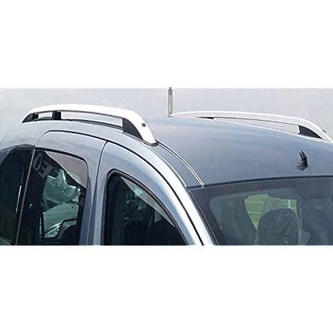 Barras de techo longitudinal para Ford Connect corto 2003> Alu + patas plástico negro