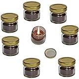 Pure Source India Scented Mini Jar Candle Vanilla 8 Pcs Pack.