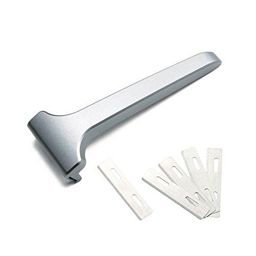 TILTSHAVE T3 solide en alliage d'aluminium de sécurité Injecteur rasoir avec étui en cuir fabriqué à la main et de 12 lame