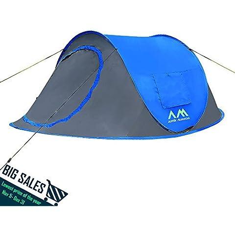 Arctic Monsoon Tienda de playa tipo concha, instantánea, UV50, Protección contra el sol y el viento (Pop up-Azul)