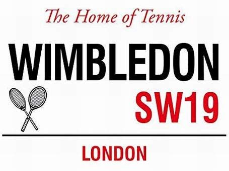 Wimbledon The Home of Tennis Sw19 London Straßenschild, Metallschilder, Vintage, lustiges Wandschild, für Zuhause, Dekoration, 20 x 30 cm (Lustige Straßenschilder)