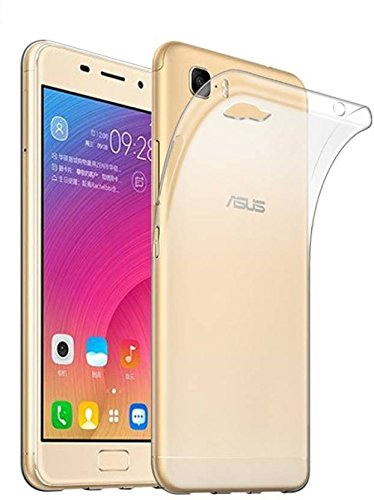Fashionury Soft Silicone Ultra Clear Flexible TPU Slim Back cover for Asus Zenfone 3S Max (Transparent)