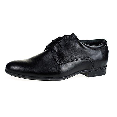 K&s ks® 15107 - scarpe eleganti da uomo - in pelle - nero - 45