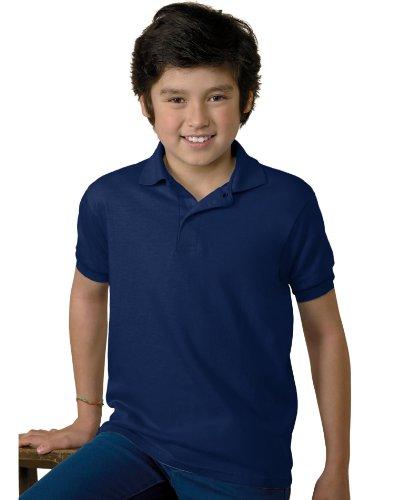 Jugend Kurzarm stricken Tag-Free Label Polo Jersey, Marine, gro?e