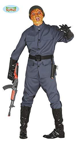 Zombie Soldat Halloween für Herren Herrenkostüm Armee Soldatenkostüm Herrenkostüm Zombiekostüm Gr. M/L, Größe:M