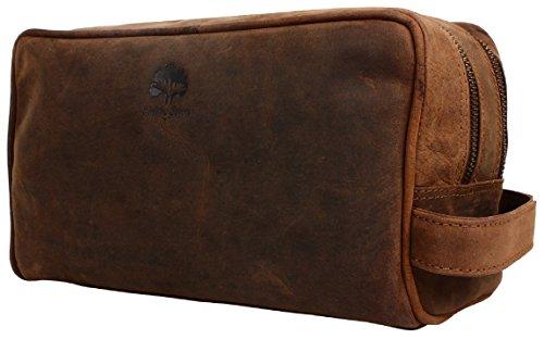 Rustic Town traditionnel fait main de qualité supérieure étui de beauté trousse de beauté étui en cuir sac en cuir trousse de toilette sac culture pour homme femme Voyage et utilisation quotidienne