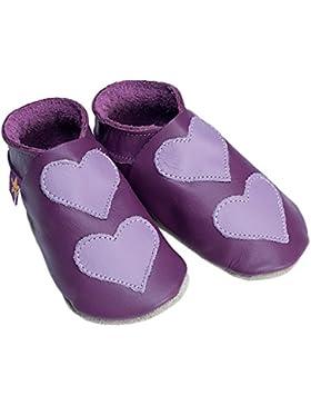 Love Hearts Uvas y lila starchild suave lederne–Zapatos para bebé