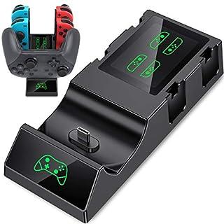 Beboncool 5-in-1 Ladestation für 1 Switch Pro Controller und 4 Joy-Cons