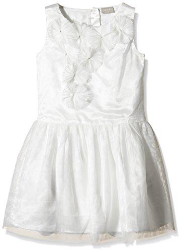 NAME IT Mädchen nitTIA K Spencer WL 116 Kleid, Weiß (Bone), 122